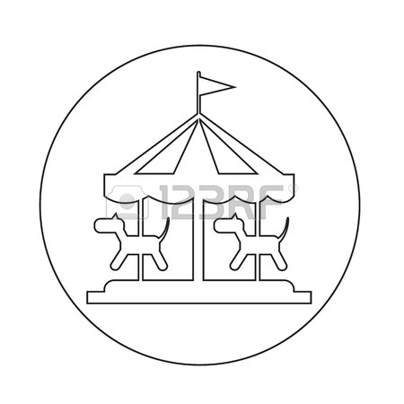 450x450 Merry Go Round Icon Royalty Free Cliparts, Vectors, And Stock