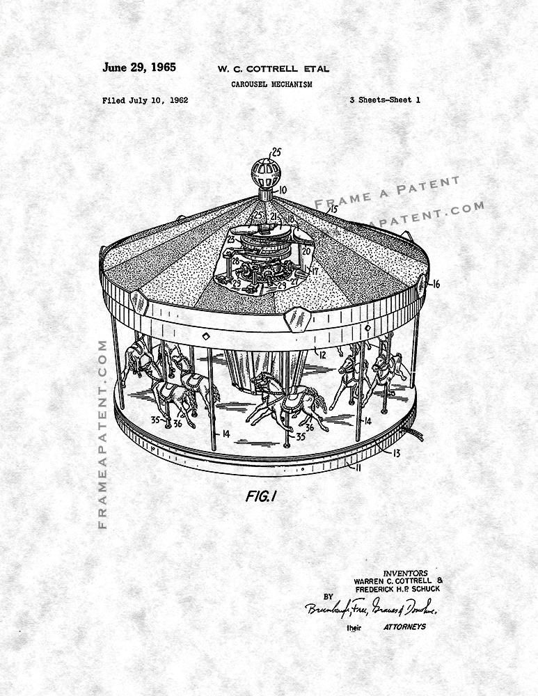 773x1000 Merry Go Round Patent Print Frame A Patent, Patent Prints