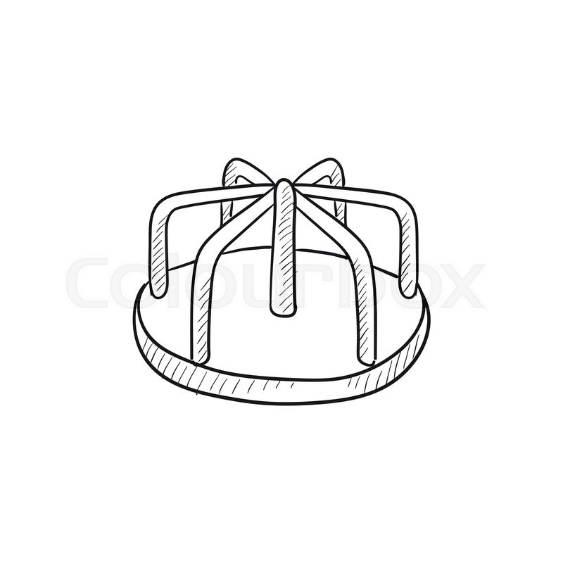 800x800 Merry Go Round Vector Sketch Icon Isolated On Background. Hand