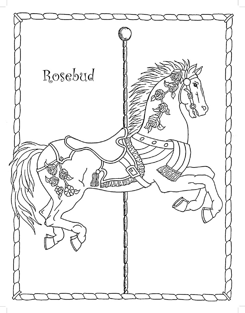 800x1022 My Merry Go Round Coloring Book Carousels Are Magical