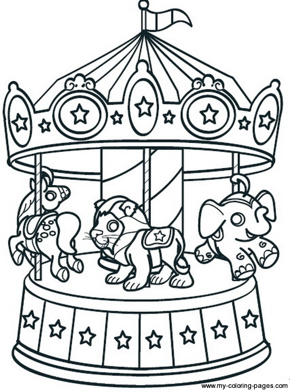 567x765 Carousel, Coloring Sheets