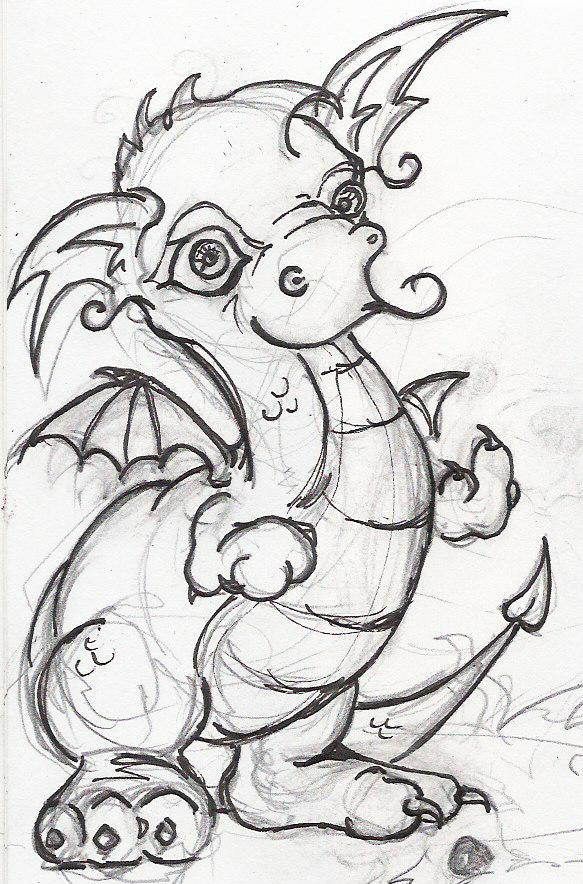 583x884 Baby Dragon With A Message By Pawnattack
