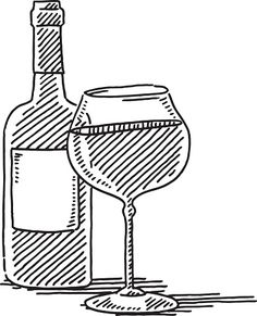 236x291 Vector Drawing Of A Wine Glass, Grape And Cheese. Wine~country