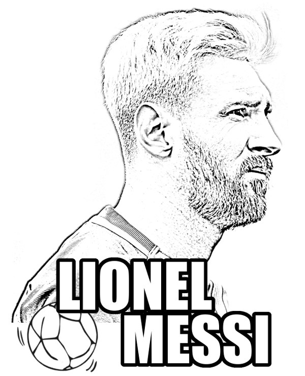 600x740 Lionel Messi Coloring Picture I Did Thisused This