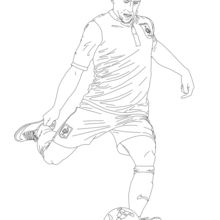 220x220 Lionel Messi Playing Soccer Coloring Pages