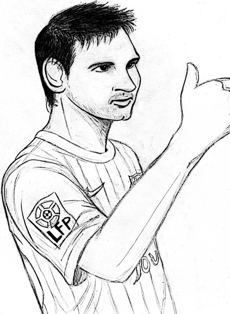 765x1045 Messi Coloring Pages