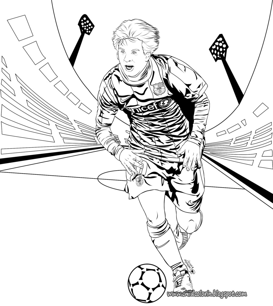 Lionel Messi Coloring Sheets Printable Worksheet Coloring Pages