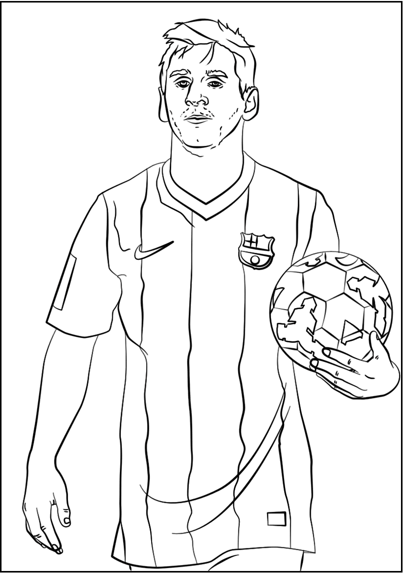 800x1138 Lionel Messi Soccer Player Coloring Sheet Sport Coloring Page