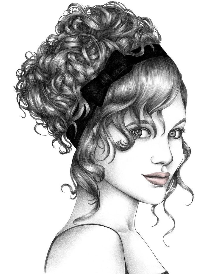 736x920 13 Best Coiffures Images On Draw Hair, Drawings