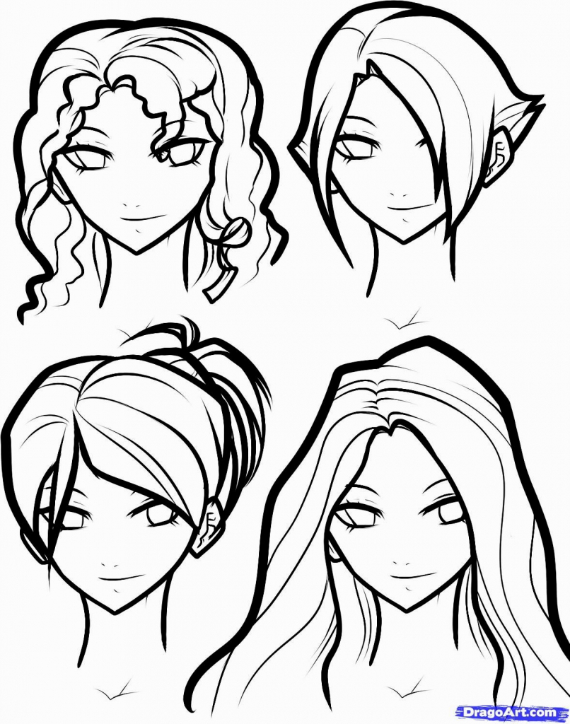 806x1024 Ideas Of Draw Hairstyles Drawing Tutorial How To Draw And Color