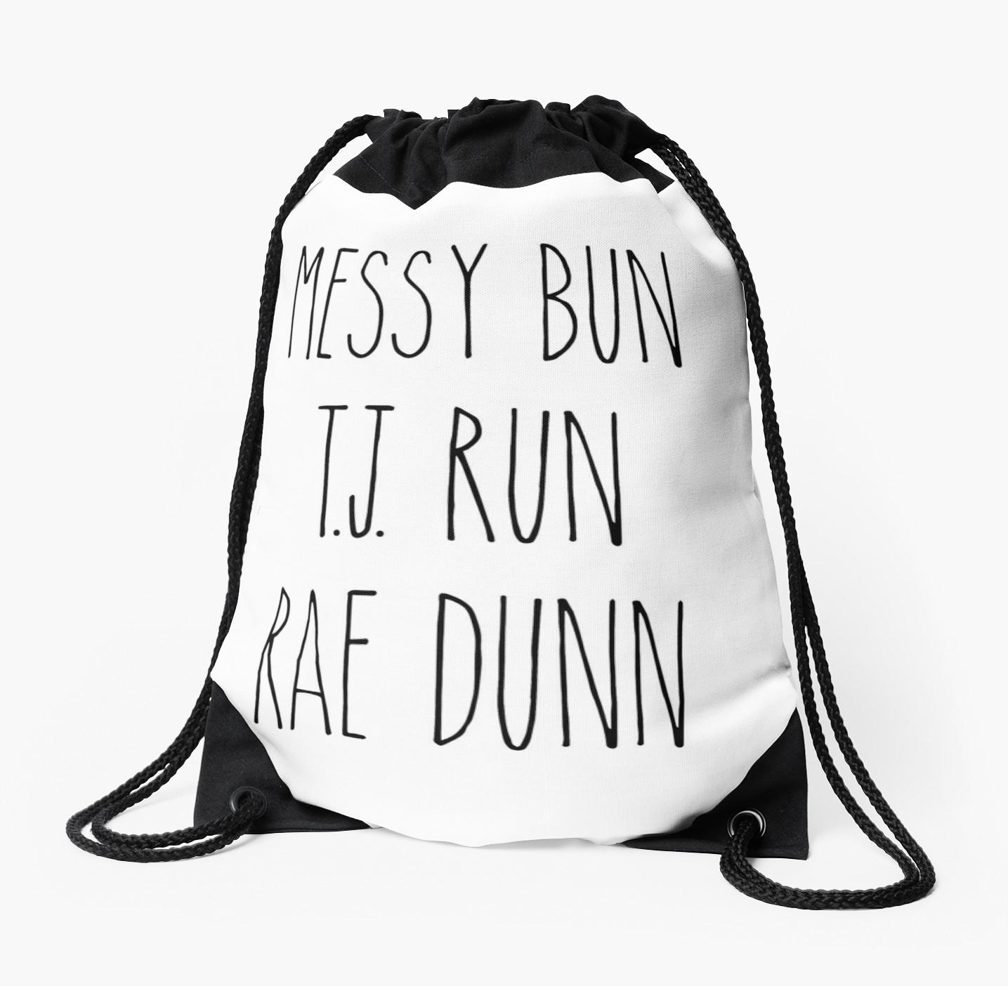 1435x1404 Messy Bun, T.j. Run, Rae Dunn Drawstring Bags By Kjanedesigns
