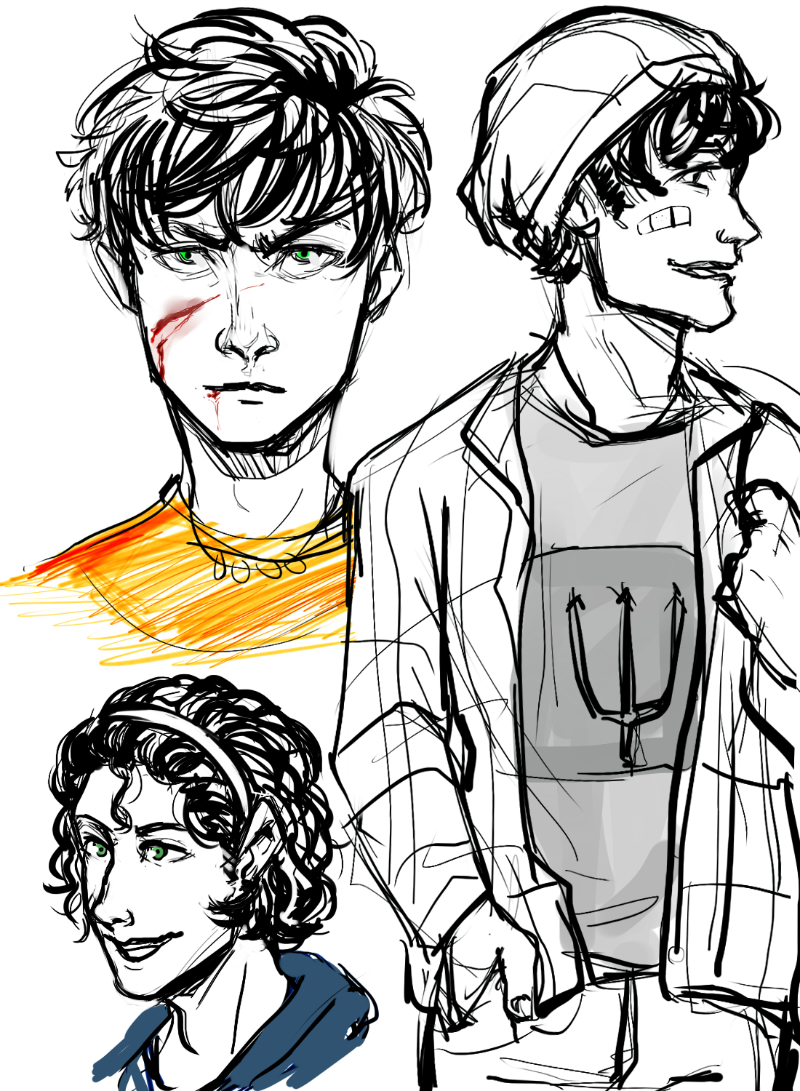 800x1091 Percy Sketches Ft Long Hairnd Beanies. Ok But,, Percy