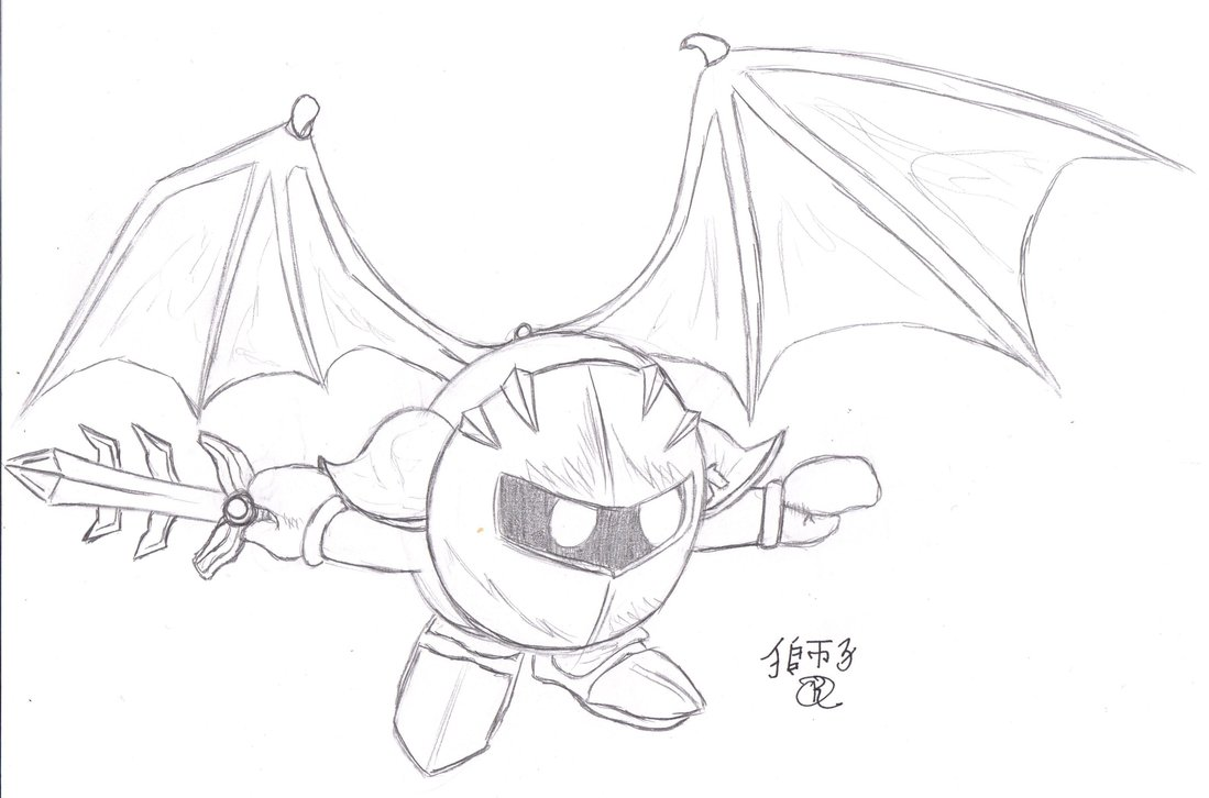 Meta Knight Drawing at GetDrawings.com   Free for personal use Meta ...
