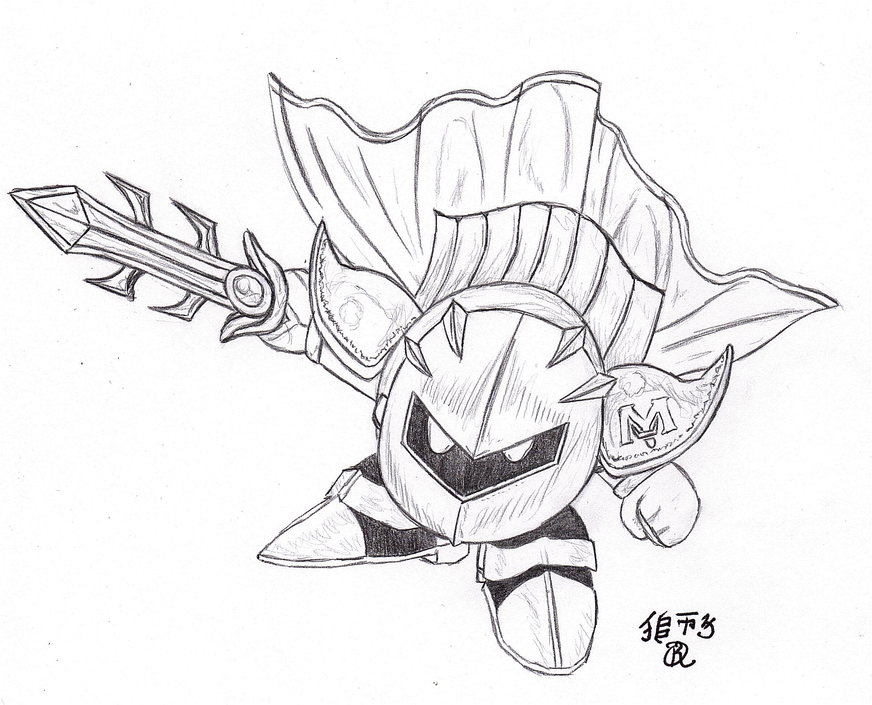 Meta Knight Drawing at GetDrawings.com | Free for personal use Meta ...