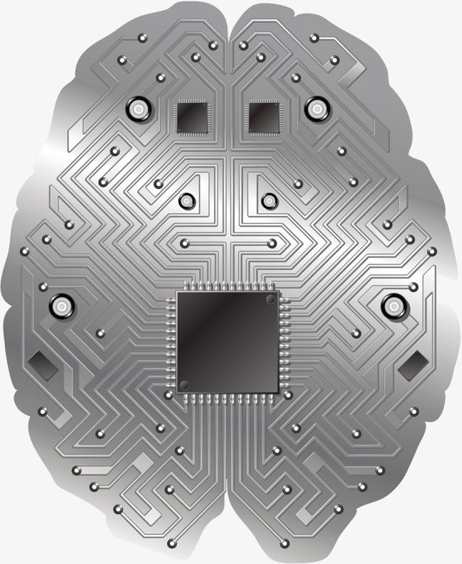 650x794 Computer Chip Brain, Circuit Lines, Metallic Feel, Chip Png