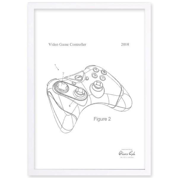 600x600 Olivergal'Video Game Controller 2008, Silver Metallic' Framed Art