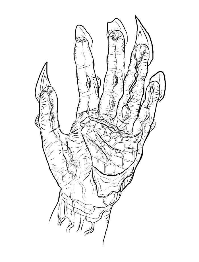 700x918 Metamorphic Hand By Hazzarich