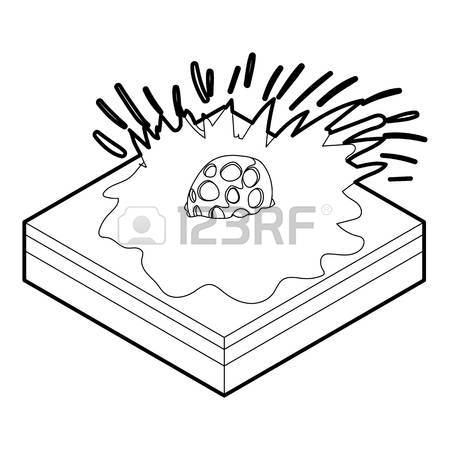 450x450 Falling Meteor Icon. Outline Illustration Of Falling Meteor Vector