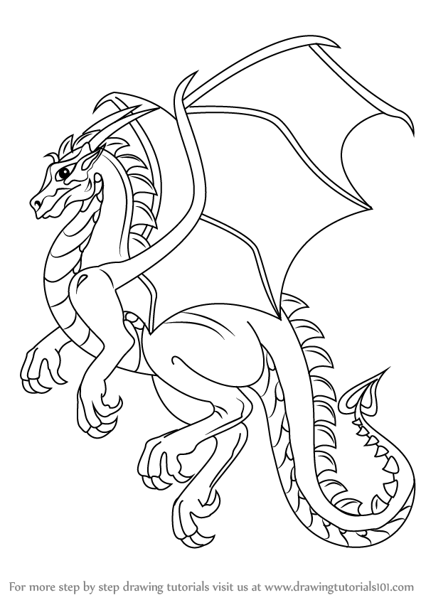 592x844 Learn How To Draw A Dragon (Dragons) Step By Step Drawing Tutorials