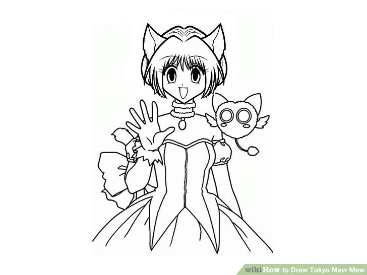728x546 How To Draw Tokyo Mew Mew 11 Steps (With Pictures)