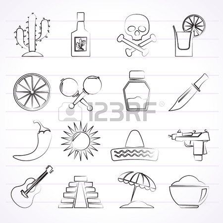 450x450 Mexican Cartel Vector Isolated Flat Icons Collection On A White