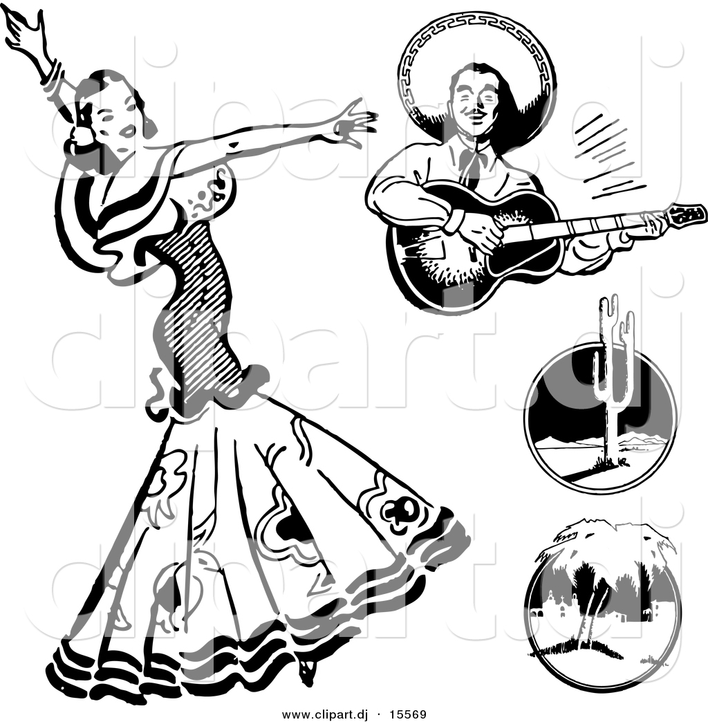 1024x1044 Mexican Culture Clipart Black And White