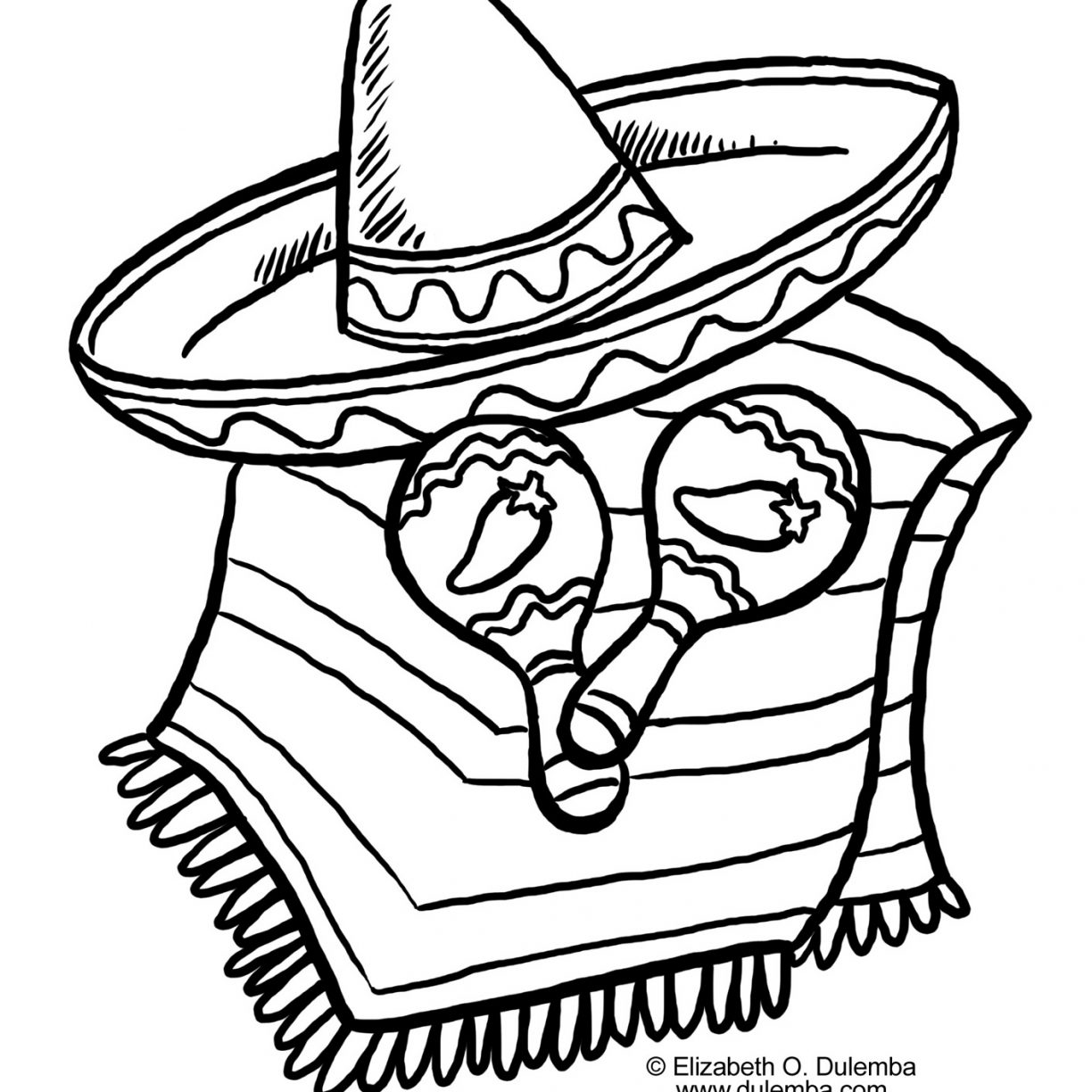1224x1224 Mexican Food Coloring Pages