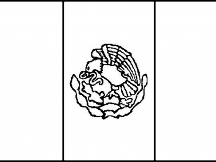 440x330 32 Mexico Flag Coloring Pages, The Flag Of Mexico Coloring Pages