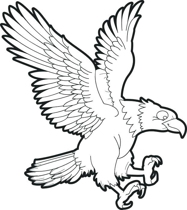622x700 Eagle Color Page Eagle Coloring Pages American Eagle Symbol