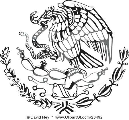 Mexican Flag Eagle Drawing at GetDrawings Free download
