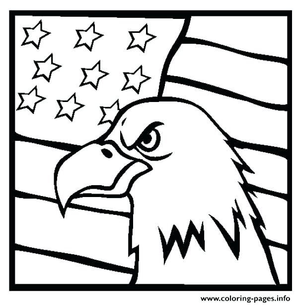 600x613 Us Flag Coloring Sheet Eagle And Us Flag Coloring Pages Mexican