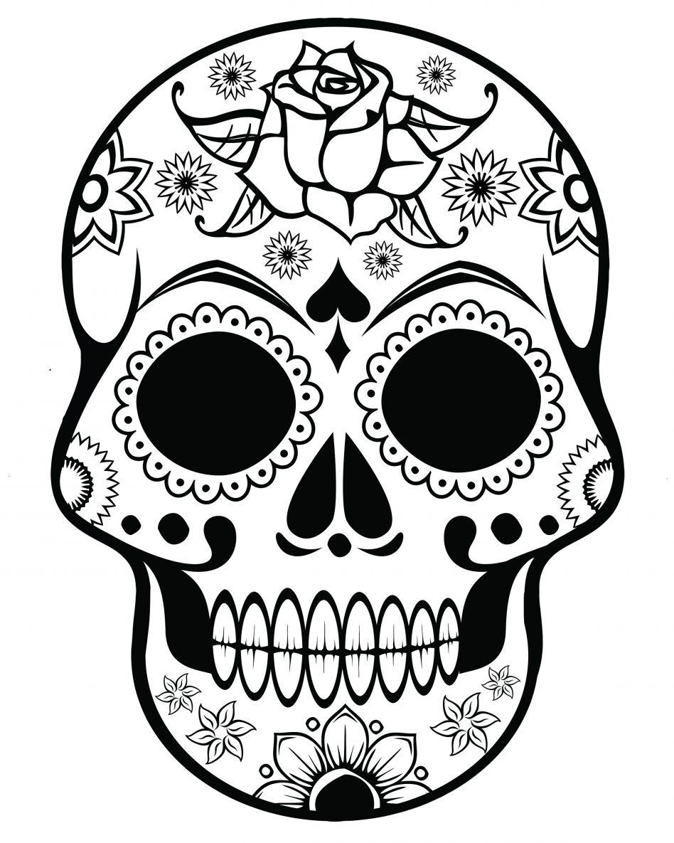948x1185 Sugar Skull Coloring Pages Printable Print Cow Pitbull Advanced