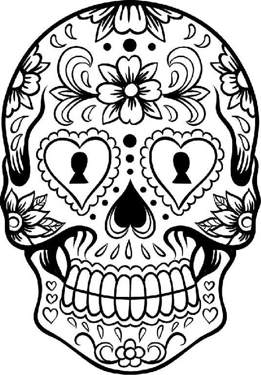 mexican flowers coloring pages-#8