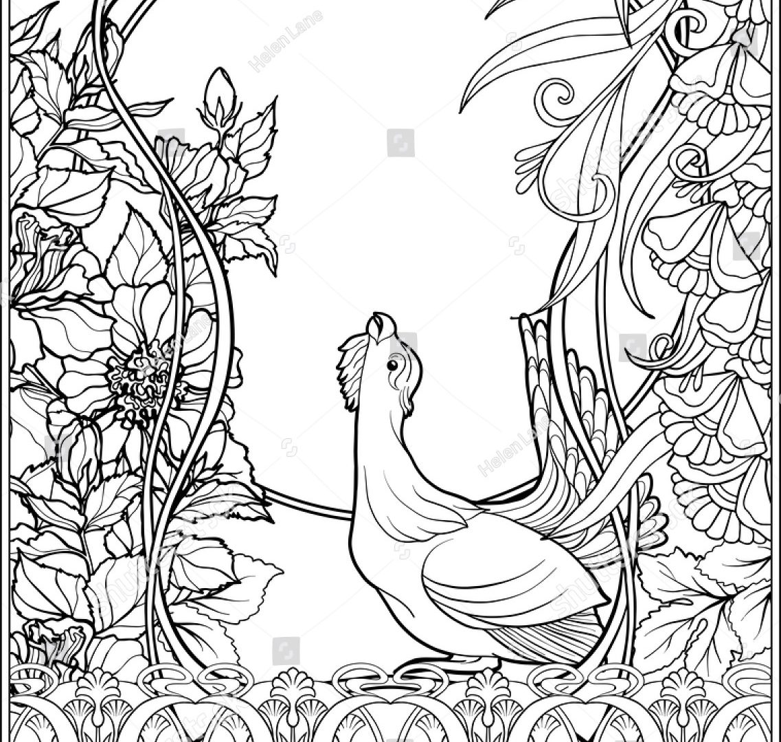 mexican flowers coloring pages-#23
