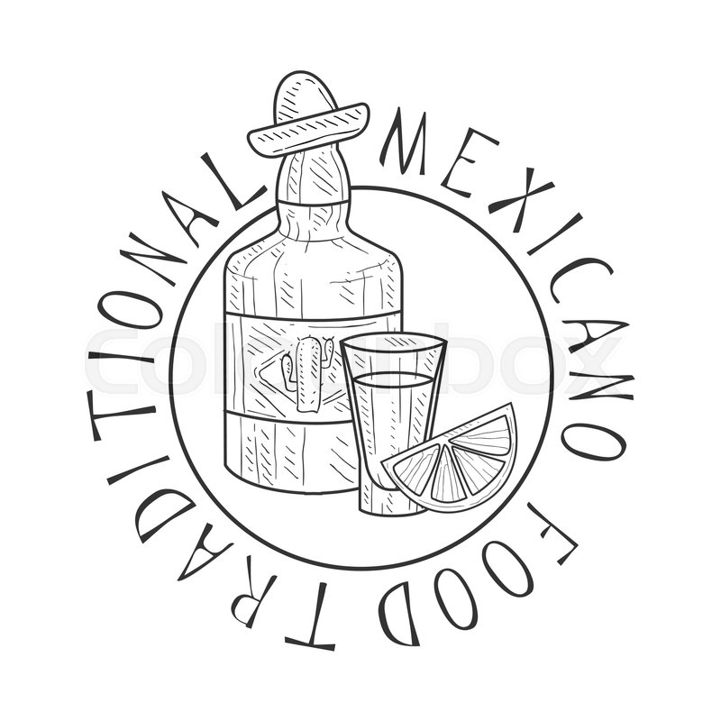 800x800 Traditional Restaurant Mexican Food Menu Promo Sign In Sketch