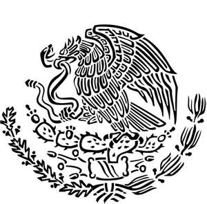 300x295 Mexican Eagle Clipart