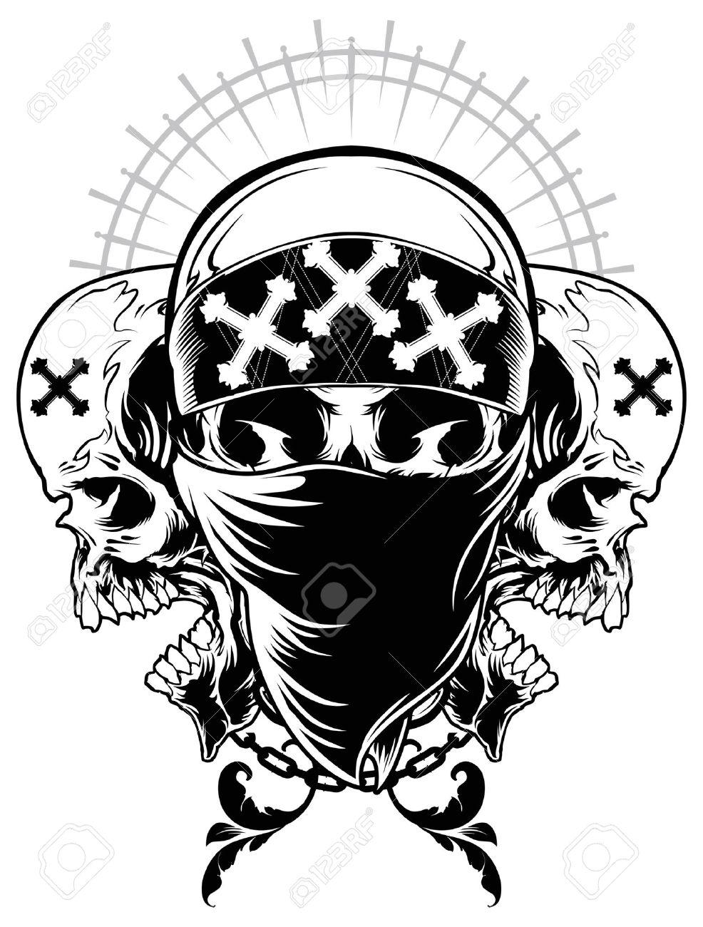 986x1300 Skull Gangster Illustration Royalty Free Cliparts, Vectors,