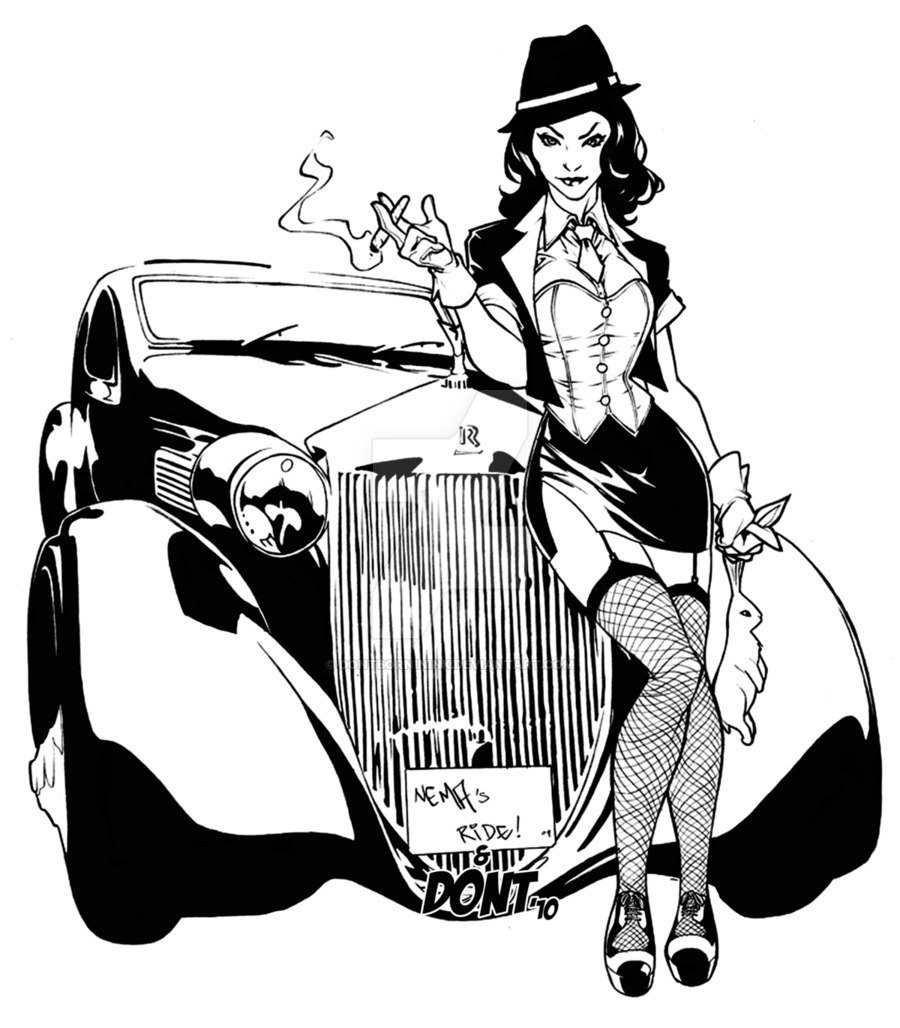900x1028 Zatana Gangster Inks By Dontborninink On Comics
