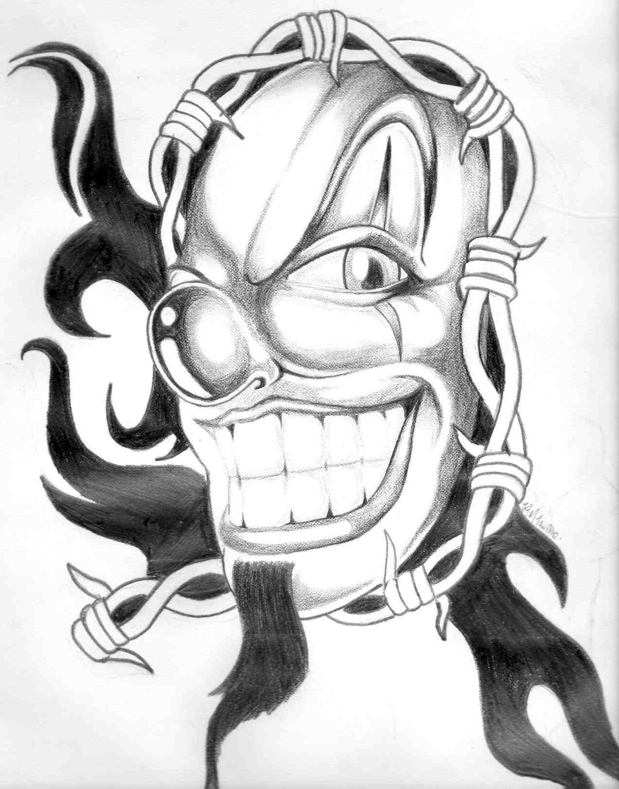 1273x1621 Drawings Of Gangster Clowns