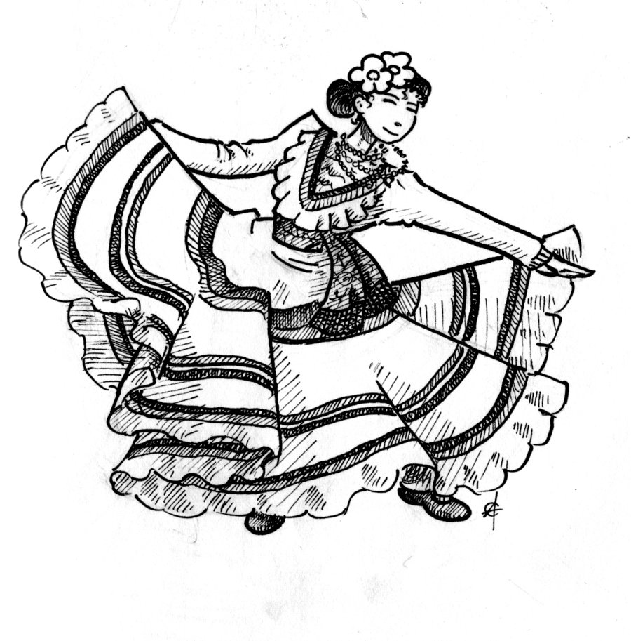 900x913 Mexican Dancers Coloring Page Mexican Boy Coloring Page