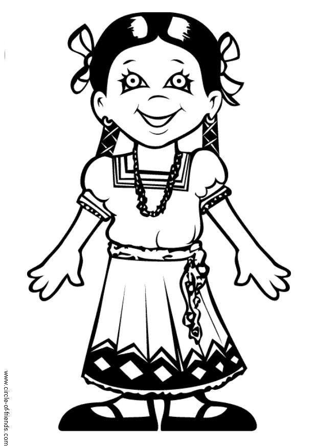 620x875 Coloring Page Maria From Mexico