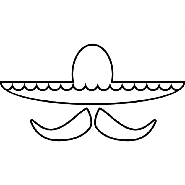 626x626 Mexican Hat And Mustache, Ios 7 Interface Symbol Icons Free Download