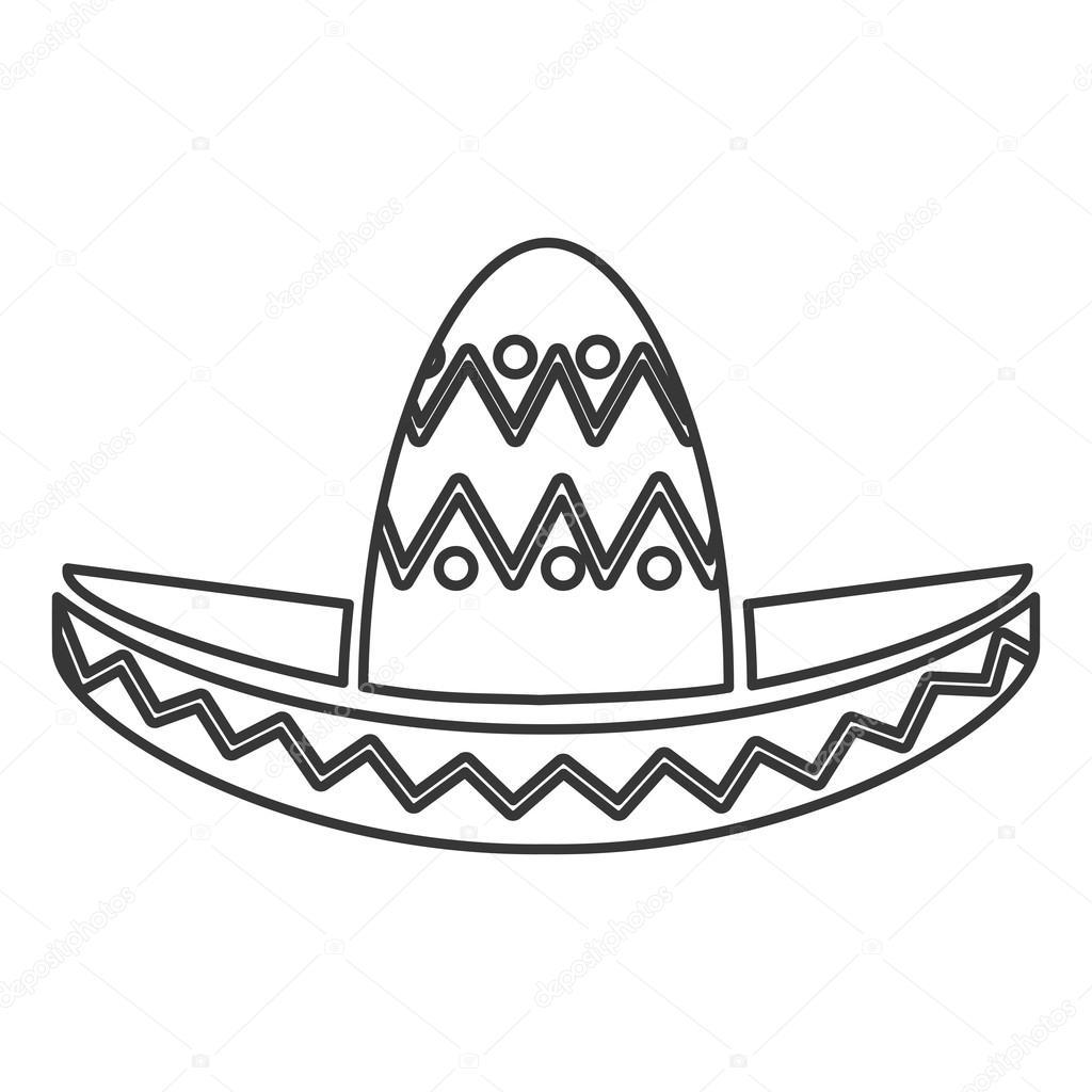 1024x1024 Mexican Hat Style Design Stock Vector Jemastock
