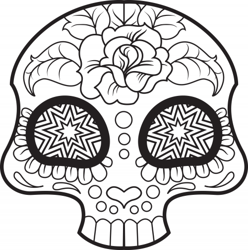 Mexican Skull Drawing at GetDrawings.com | Free for personal use ...