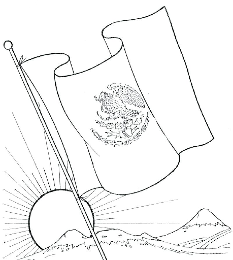 800x892 Flag Of Mexico Coloring Page Mexico Flag Coloring Page