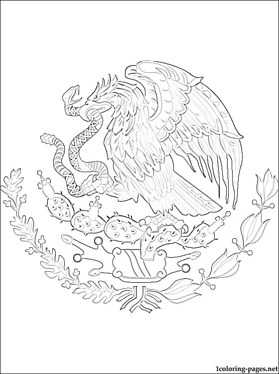 560x750 Mexico Coat Of Arms Coloring Page Coloring Pages