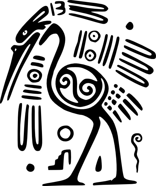 498x596 Ancient Mexico Motif Bird Clip Art Free Vector In Open Office