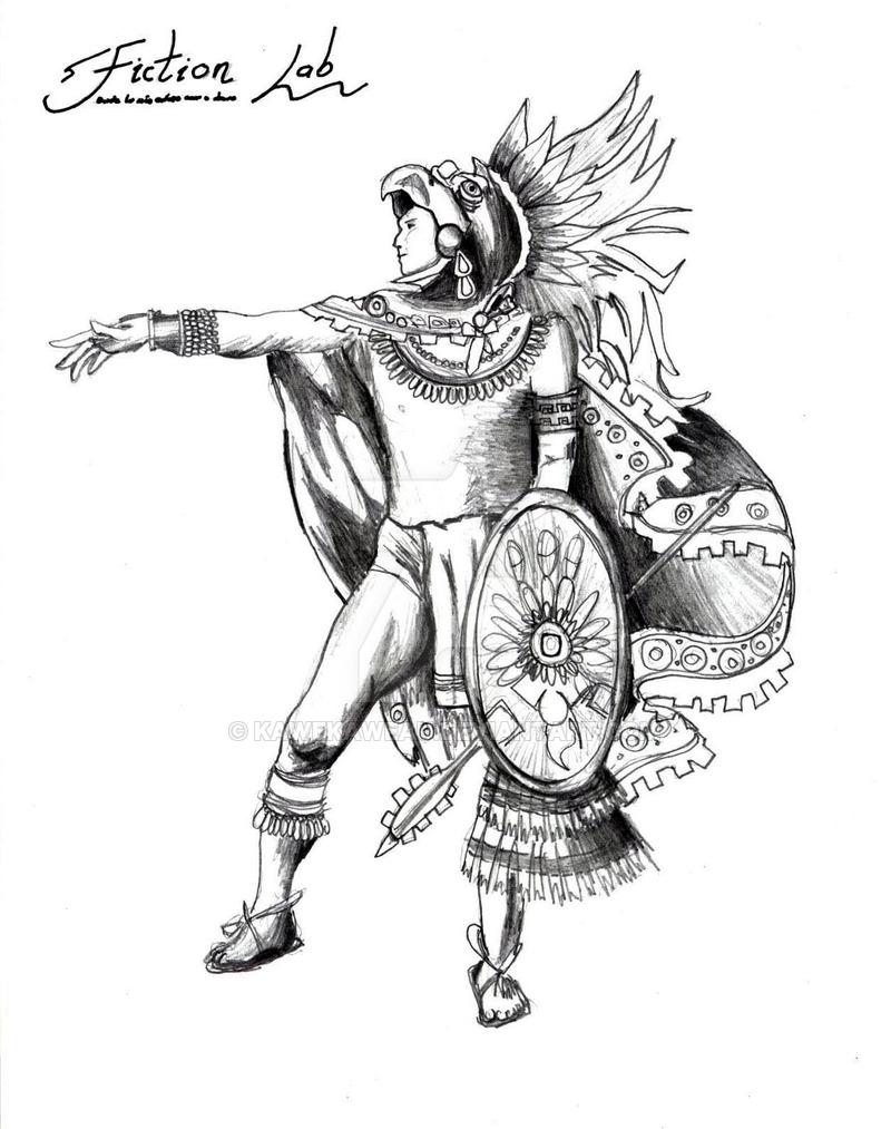 800x1013 Viva Mexico Eagle Warrior By Kawekaweau