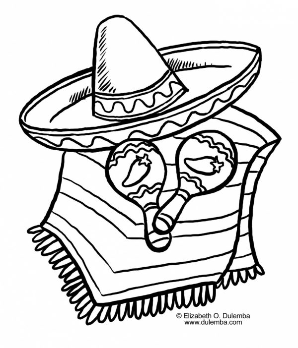 600x702 How To Draw The Mexican Flag Coloring Page Free Download