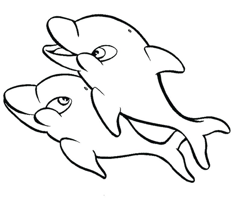 800x661 Dolphin Coloring Page Dolphin Coloring Pages Dolphin And Mermaid